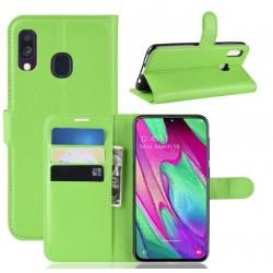 Knížkové zelené pouzdro s poutkem pro Samsung Galaxy A20e