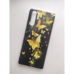 Huawei P30 Pro silikonový obal s potiskem Zlatí motýlci