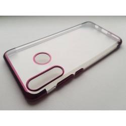 Silikonový obal s barevným rámečkem na Huawei P30 Lite - Fialová