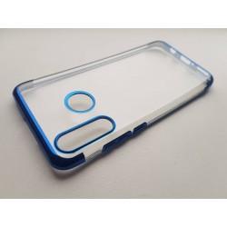 Silikonový obal s barevným rámečkem na Huawei P30 Lite - Modrá