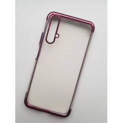 Silikonový obal s barevným rámečkem na Huawei Nova 5T - Fialová