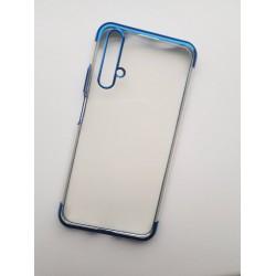 Silikonový obal s barevným rámečkem na Huawei Nova 5T - Modrá