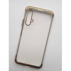 Silikonový obal s barevným rámečkem na Honor 20 - Zlatá
