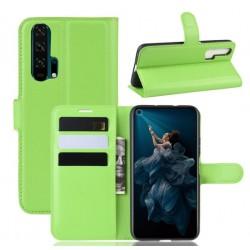 Knížkové zelené pouzdro s poutkem pro Huawei Nova 5T