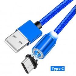 Nabíjecí 1m kabel s magentickými nástavci konektorů microUSB, USB-C, Lightning