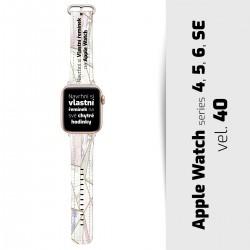 Vlastní řemínek vel. 40 pro Apple Watch 4, 5, 6, SE