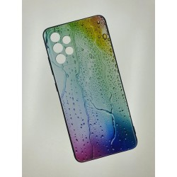 Silikonový obal s potiskem na Samsung Galaxy A52s 5G - Kapky