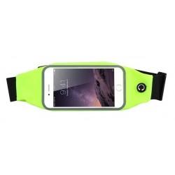 Sportovní ledvinka na mobil Žlutozelená
