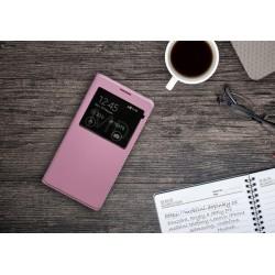 Flip obal s průhledem pro Samsung Galaxy J7 2016 - Růžový