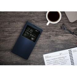 Flip obal s průhledem pro Samsung Galaxy J7 2016 - Modrý
