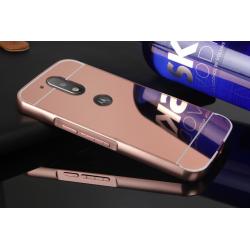 Zrcadlový kryt pro Lenovo Moto G4 - Růžový